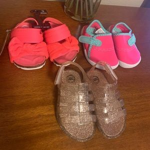 Other - 3 Pair Sandals and Water Shoes Size 3